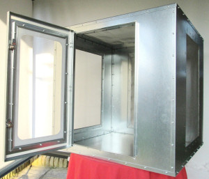 Aphid cage with door open