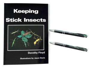 Keeping Stick Insects book and Professional Entomologists Pens